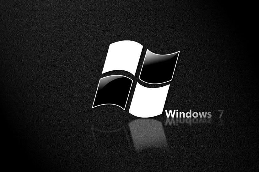 black and white windows 7 image Wallpaper