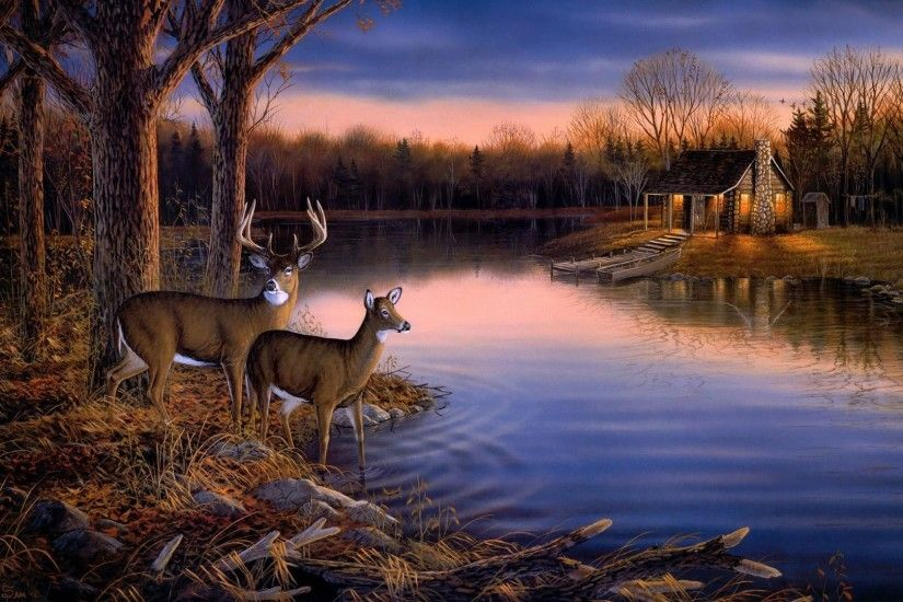 Deer Hunting Wallpaper Border | ... ,landscape wallpaper Picture 1920x1080  1080p hd wallpaper
