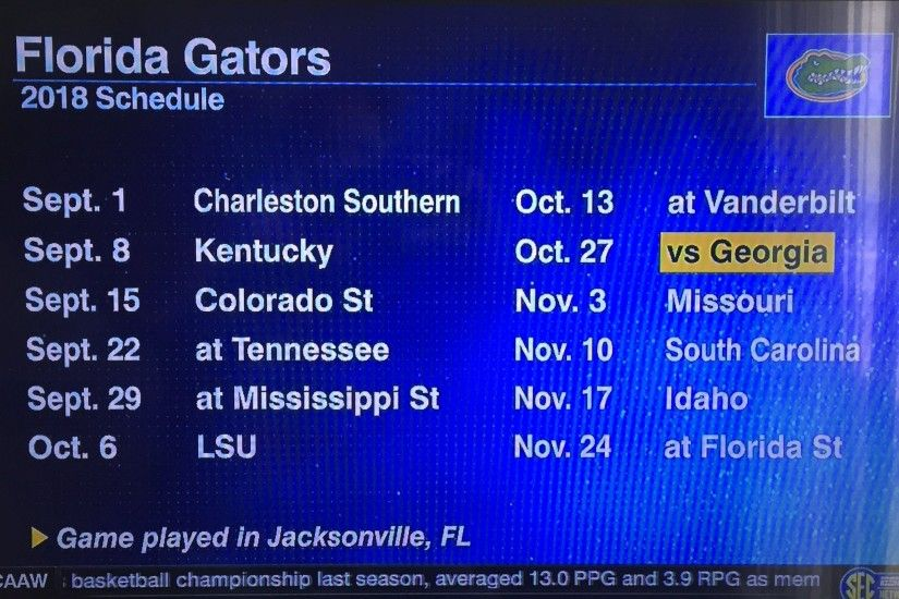 New Orleans Saints Football Schedule 2017. Florida Gators Announce They  Will Open 2018 Football