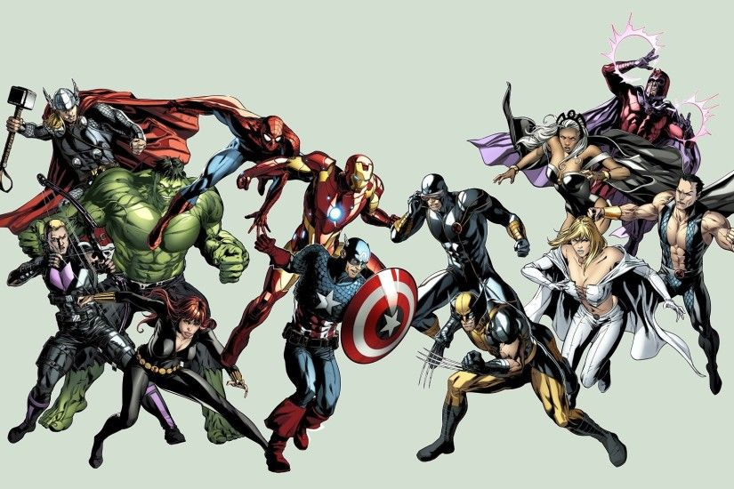 Hawkeye cyclops avengers vs x-men storm (comics wallpaper