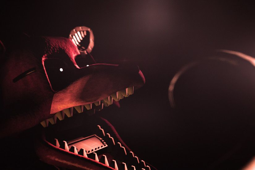 Made a simple Nightmare Foxy Wallpaper. (Model By: HectorMKG .