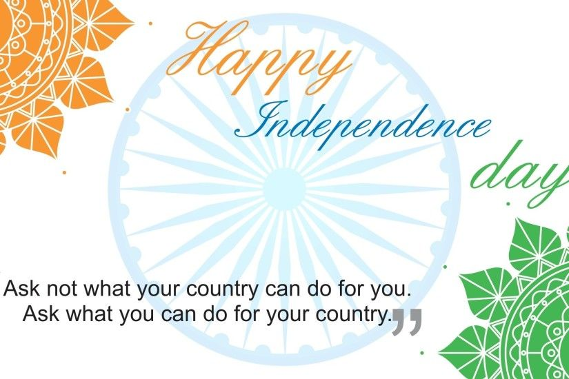 Happy th Independence Day of India HD Wallpapers with Quotes 1366×768 Independence  Day Wallpaper