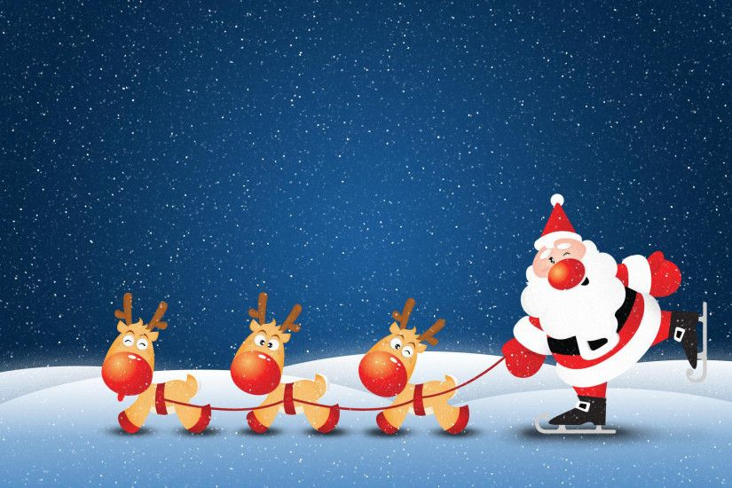 Funny Christmas Santa Wallpaper.