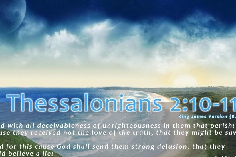 Thessalonians Bible Verse Christian Christianity Desktop Backgrounds -  1920x1200