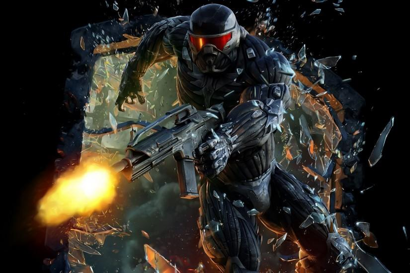 video Games, Crysis 3, Broken Glass, Gun Wallpaper HD