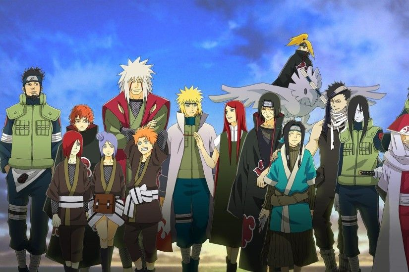 1920x1200 Naruto Characters Anime HD Wallpaper - wallpaper source