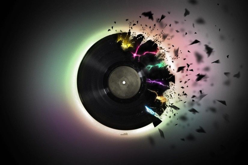 Exploding vinyl Music HD desktop wallpaper, Vinyl wallpaper - Music no.