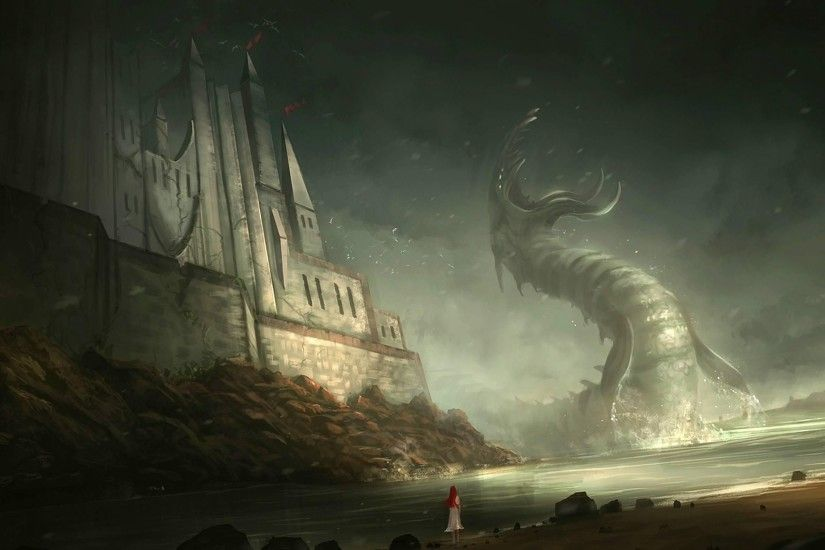 Fantasy Cthulhu Wallpaper 2558?1572 Px Free Download