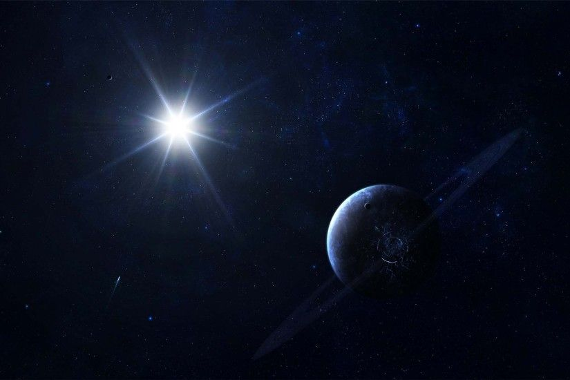 Shining Star In Space | HD Digital Universe Wallpaper Free Download ...