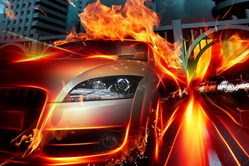Car on Fire HD 4 26550 Cool Wallpapers HD Wallpaper
