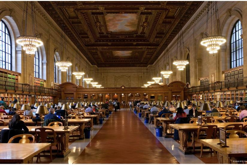 New York Public Library Reading Room Wallpaper