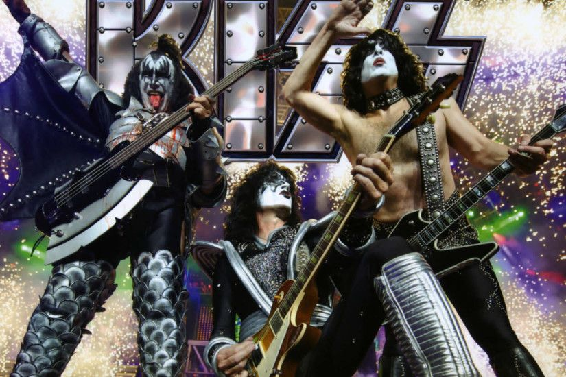 Kiss heavy metal rock bands concert guitar f wallpaper background