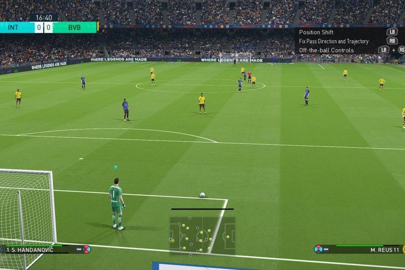 Marvel at a football game that can manage goal kicks at 60fps by default.
