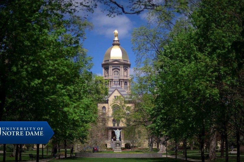 Notre Dame Golden Dome Wallpaper