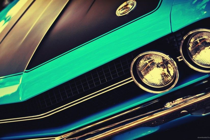 1440x900 Blue Vintage Muscle Car wallpaper