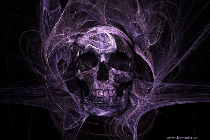 Cool Skull | Dark - Skull - Purple Skull - Dark - Colour - Purple Wallpaper