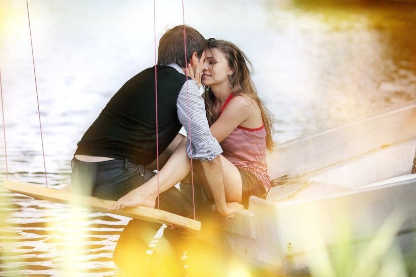 Romantic kiss Images