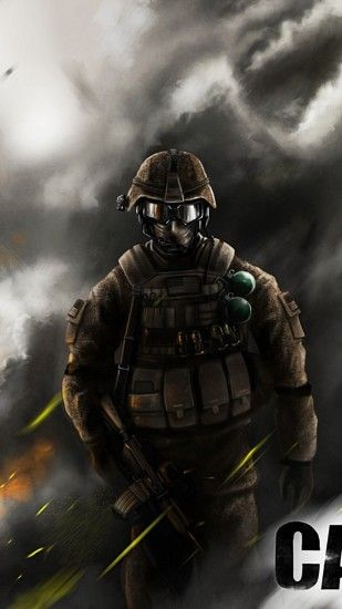 Preview wallpaper call of duty modern warfare 3, soldier, automatic, sign,  smoke