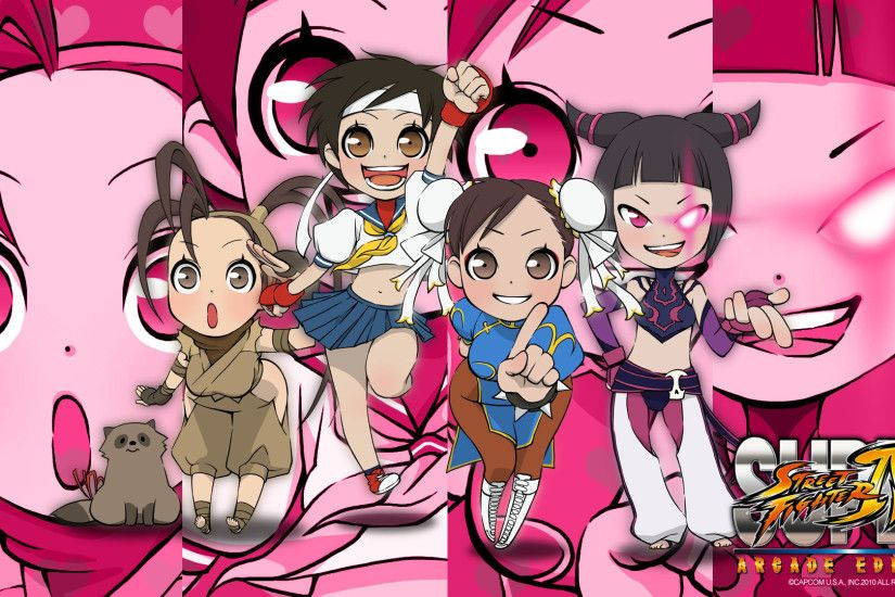 New Super Street Fighter IV Arcade Edition Wallpaper is Supah Cute