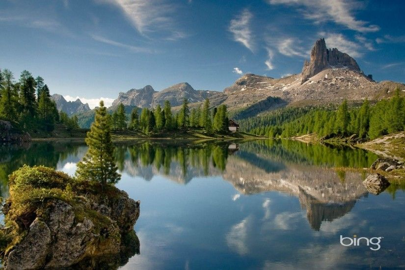 Italian Dolomite mountain-Bing Wallpaper - 1920x1080 wallpaper .