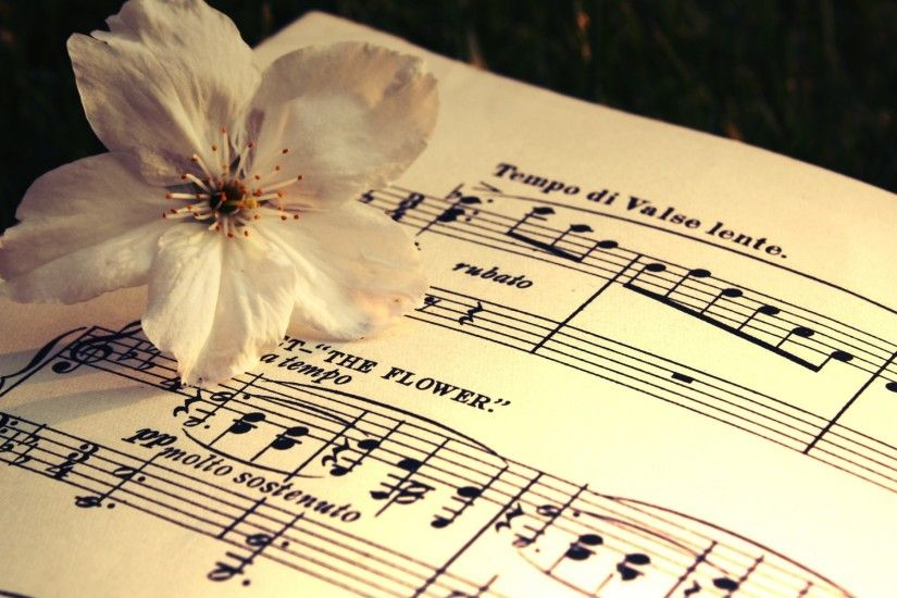 The Flower composition 1920×1200 · Music NotesClassical ...