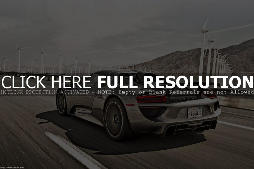 PORSCHE 918 SPYDER MOTION WALLPAPER