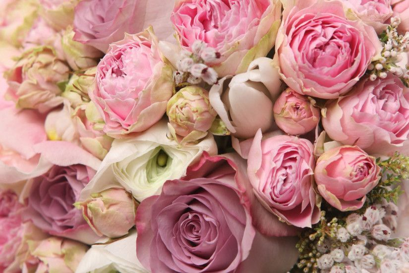 Roses and peonies bouquet wallpaper #18426
