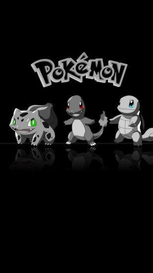 Bulbasour, Charmander and Squirtle wallpaper