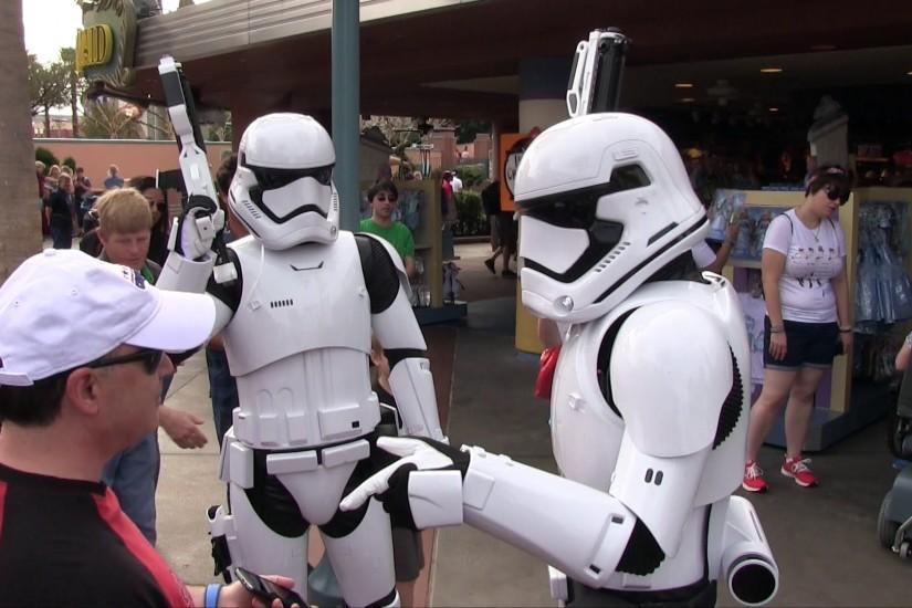 First Order Stormtroopers from Force Awakens patrol outside Star Wars  Launch Bay - YouTube