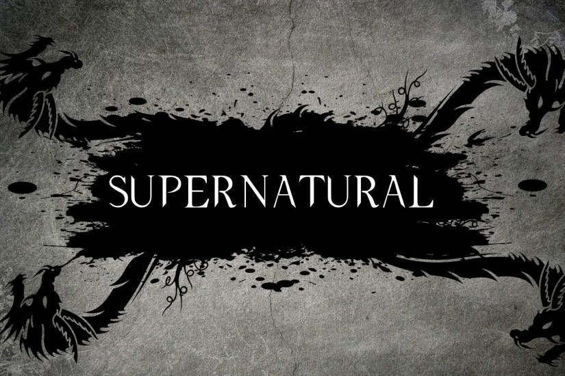 Supernatural Dragon Logo HD Wallpaper.