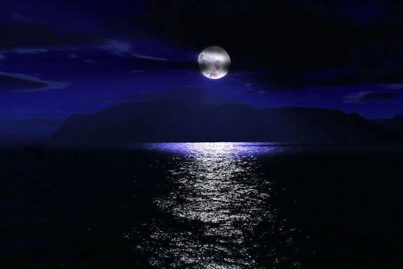 full moon over the sea wallpaper 1084134 night sky moon cloud sea