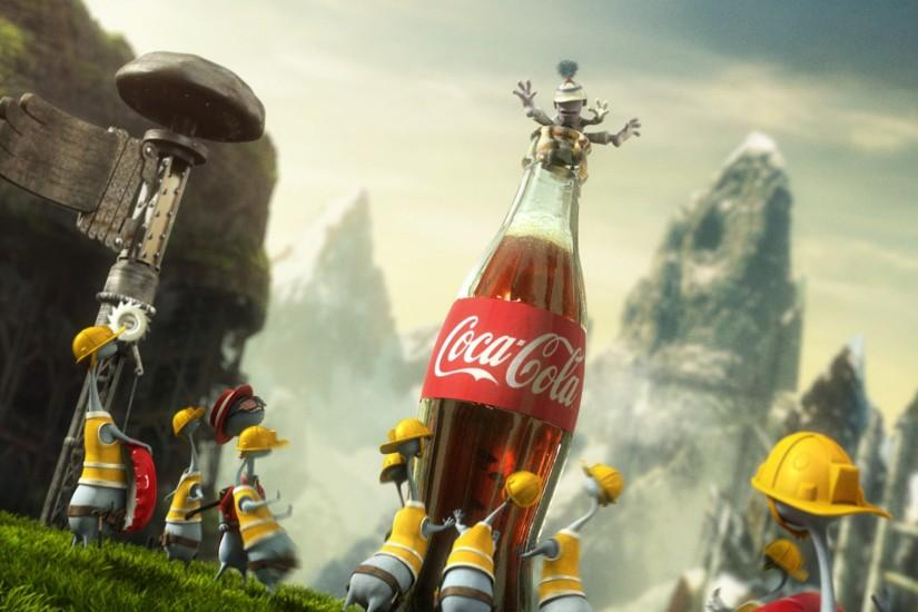 Preview wallpaper coca-cola, drink, soda, festival 3840x2160