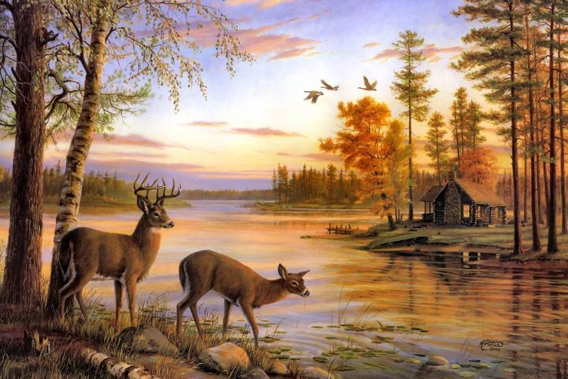 beautiful deer wallpaper 2261x1516 notebook
