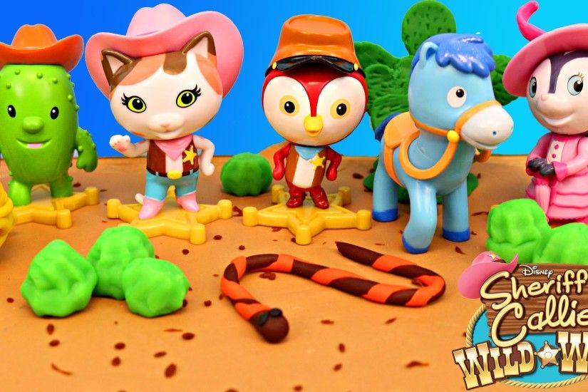 Disney Sheriff Callie's Wild West PLAY DOH Desert Scene Disney Junior  Playdough DisneyCarToys - YouTube