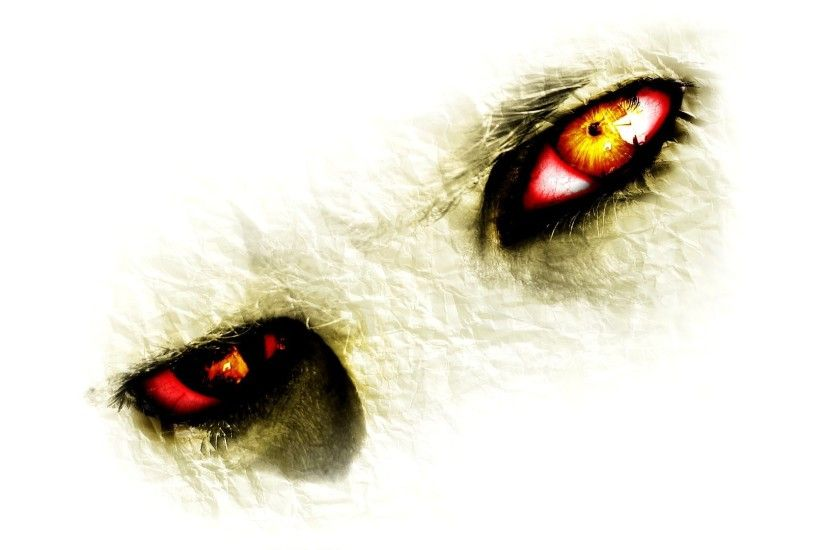 digital Art, Yellow Eyes, Closeup, Creature, Red Eyes, Paper, White  Background, Artwork, Eyes Wallpapers HD / Desktop and Mobile Backgrounds
