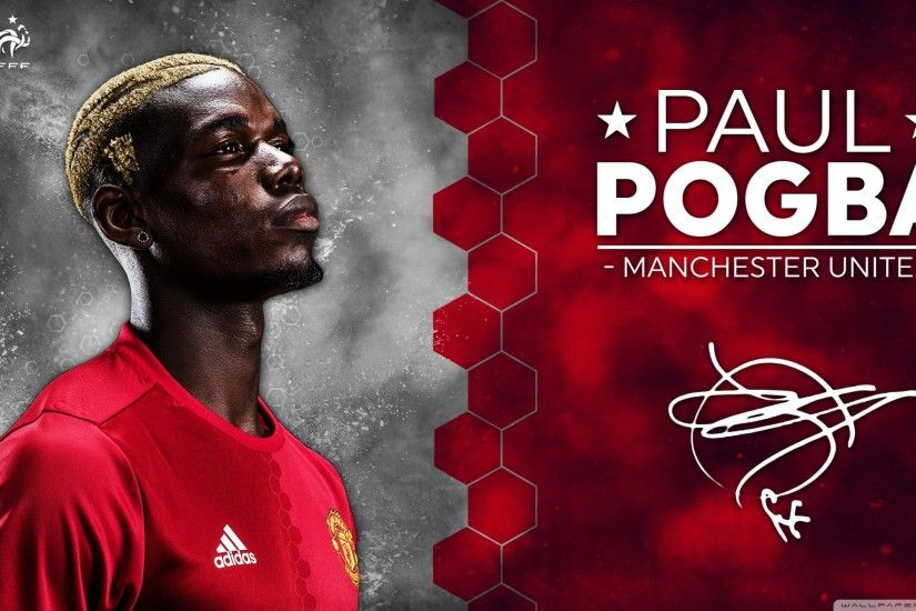 ... paul pogba manchester united 2016 17 uhd desktop wallpaper for ...