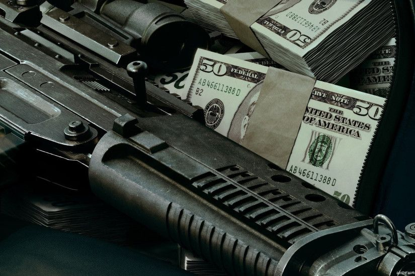 Guns And Money Wallpaper