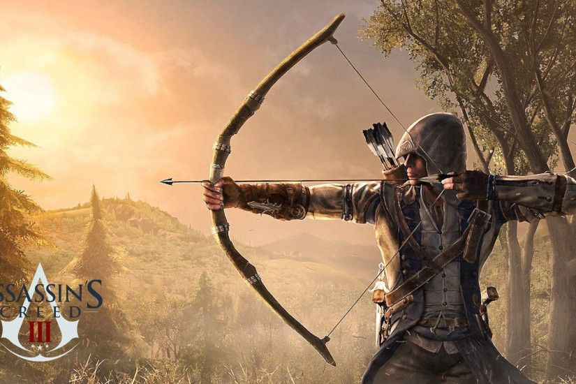 Assassins Creed Connor Bow HD Desktop Wallpaper High