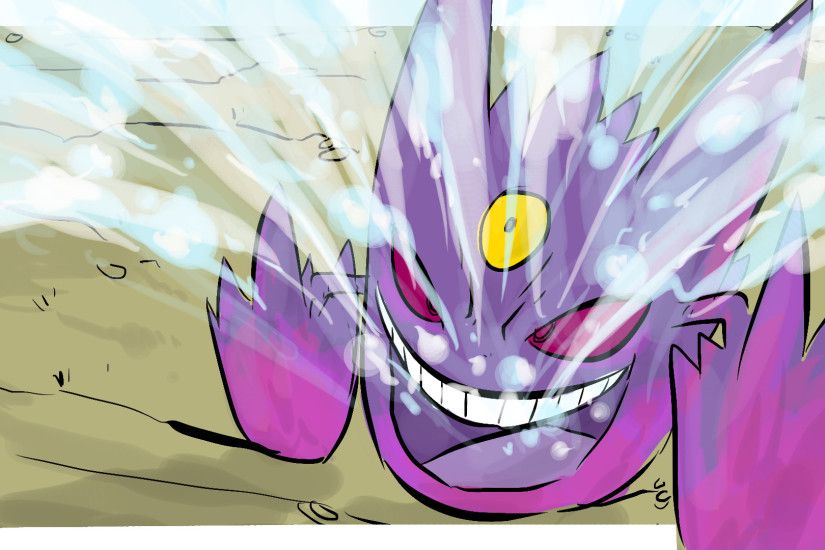 MEGA GENGAR! ICY WIND! My Pokemon Drawing today is Gengar...just so you  know ...