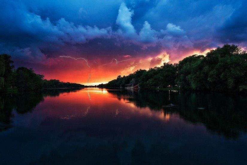 Stormy Weather Sunset Wallpaper - Pulsar Ecard