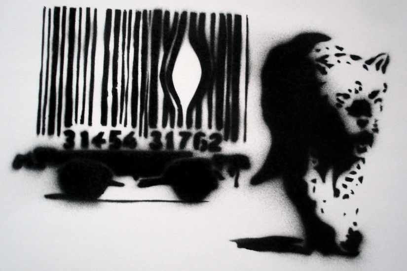 ... Free Download Hd Banksy Art Wallpaper More Like Banksy Leopard By  Markfrancis ...