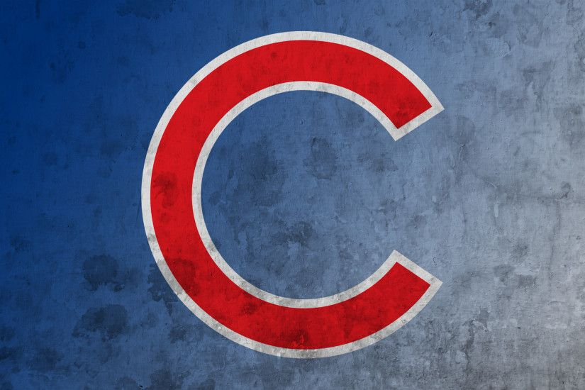 Cubs C on blue and white Indians script logo ...