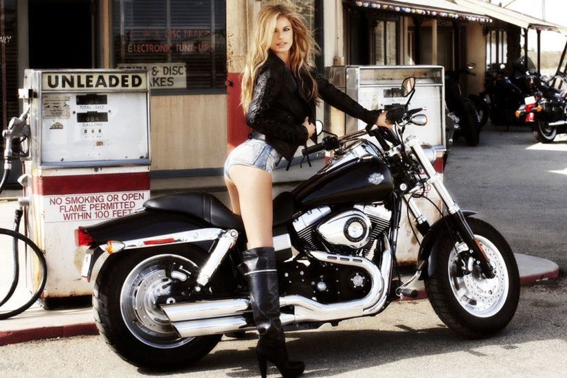 marisa miller harley davidson on a petrol station wallpaper - hd wallpaper  gallery - or wallpapers and backgrounds for desktop or tablet