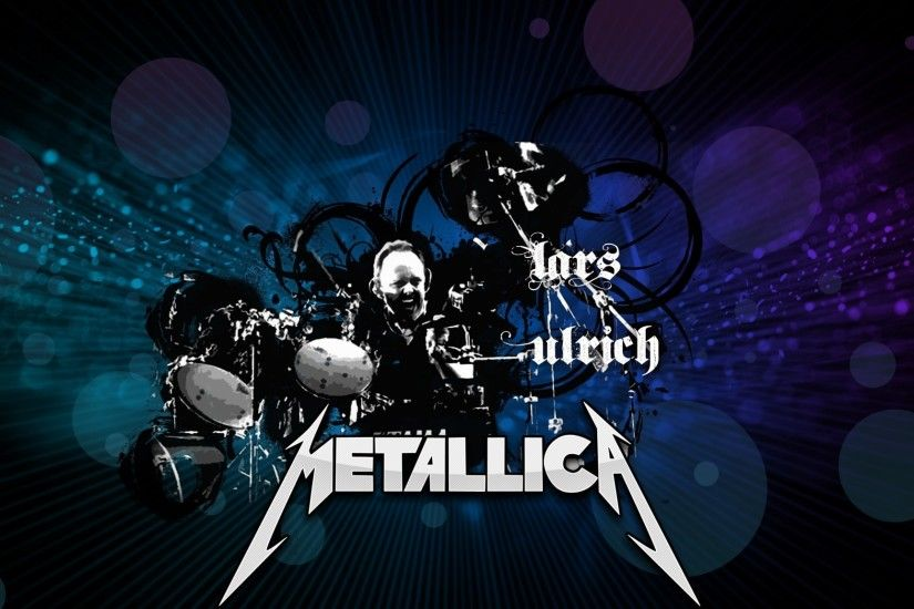 Preview wallpaper metallica, drum, name, graphics, font 2048x1152