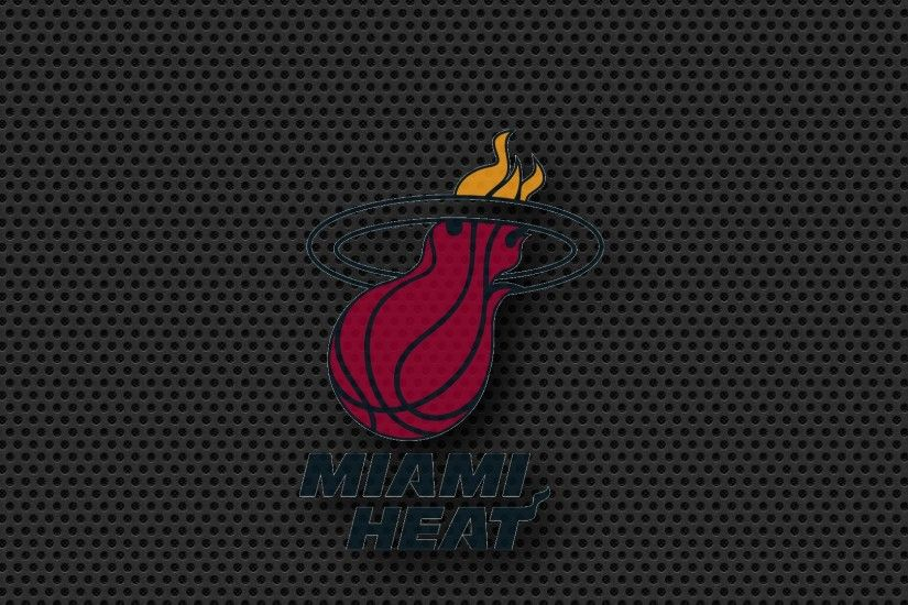 miami heat logo on carbon black
