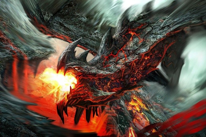 Fire breathing lava dragon HD Wallpaper 1920x1080 Fire ...