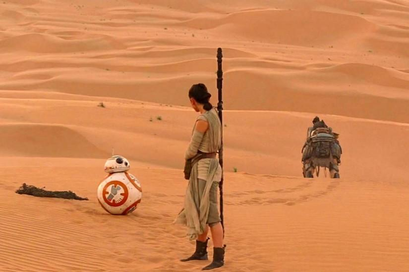 Rey encounters BB-8 - Star Wars: The Force Awakens 1920x1080 wallpaper