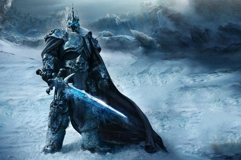 Preview wallpaper game, warrior, world of warcraft, wrath of the lich king  1920x1080