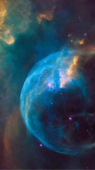 Supernova Blue Bubble Explosion Hubble Android Wallpaper ...