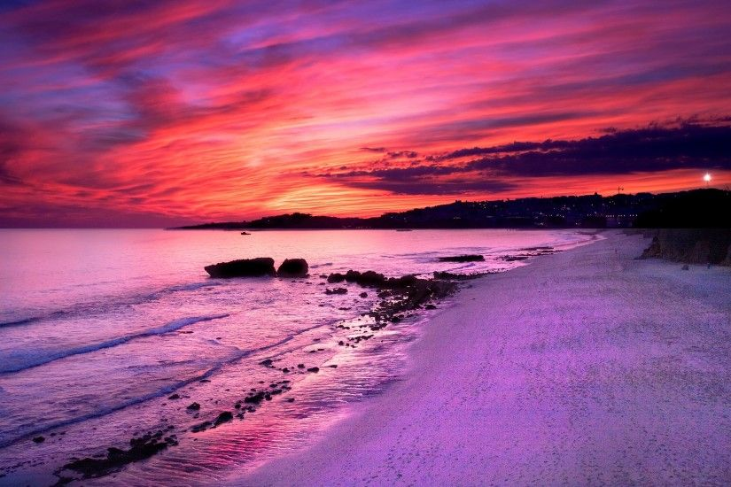 HD Wallpapers Dream Summer 2012 - purple sunset